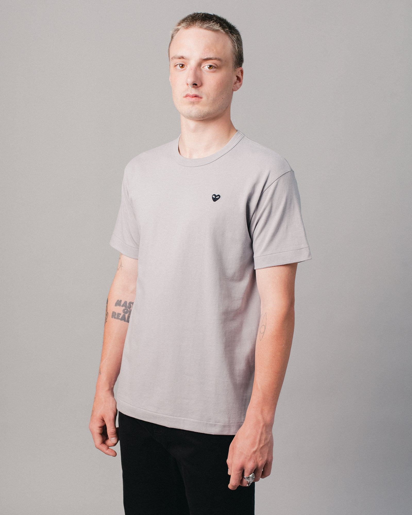 Small Heart T-Shirt Grey