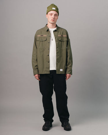 Buds Cotton Shirt Olive Drab 2