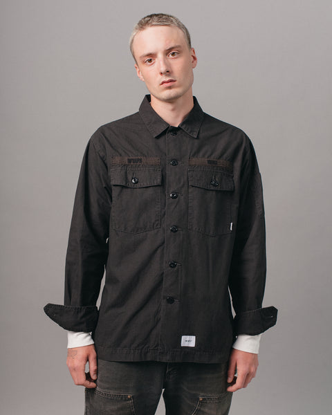 Buds Cotton Shirt Black