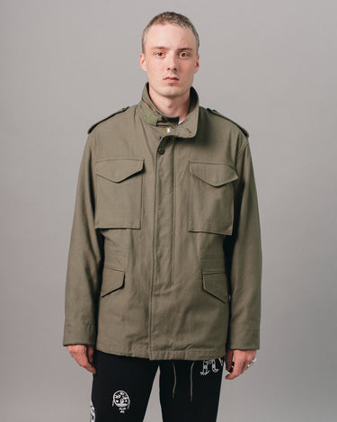 65 Satin Jacket Olive Drab 1