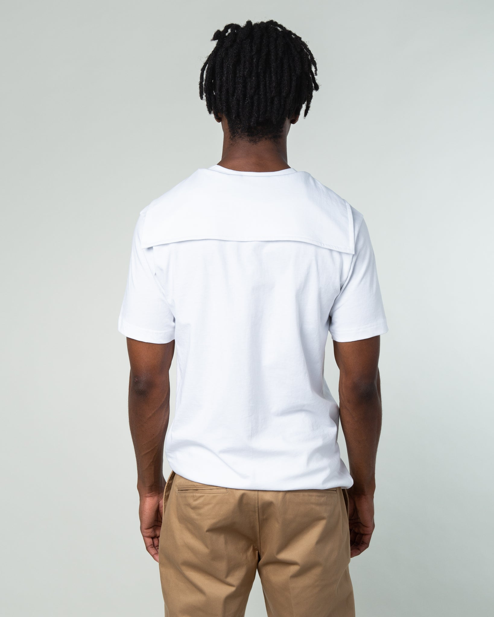 Double Collar T-Shirt White
