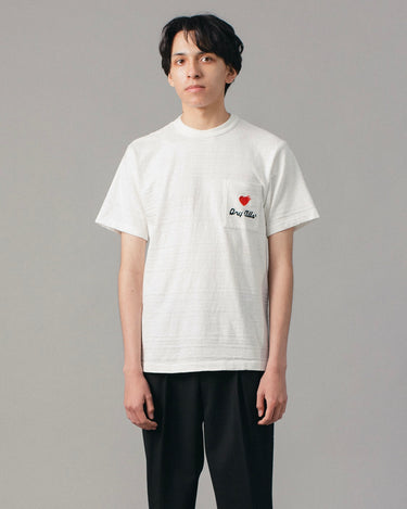 Flag Logo Pocket Tee #3 White 1