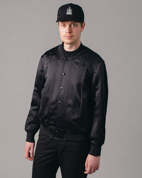 Pleated Blouson Black