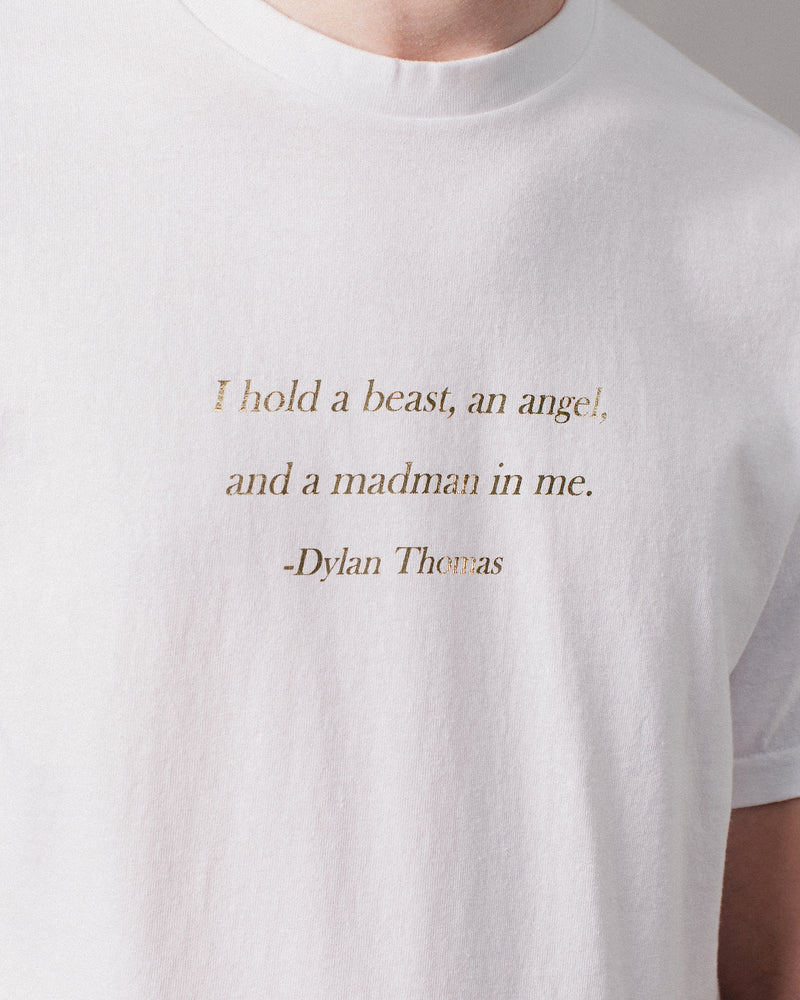 Dylan Thomas Tee White