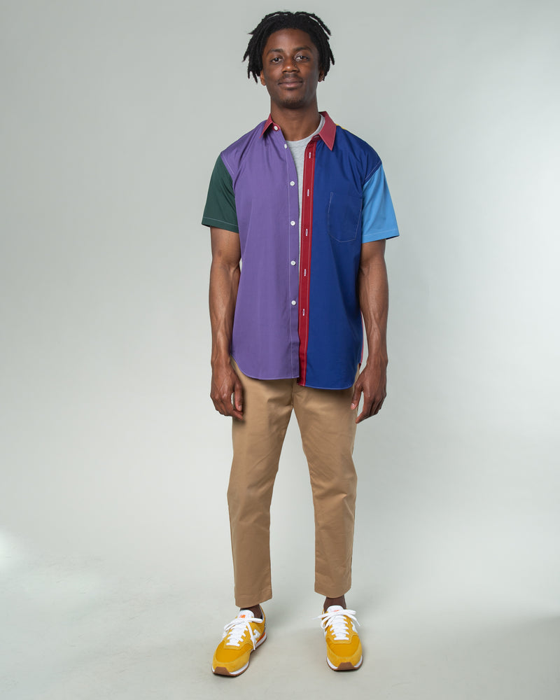 Color Block SS Shirt Multi