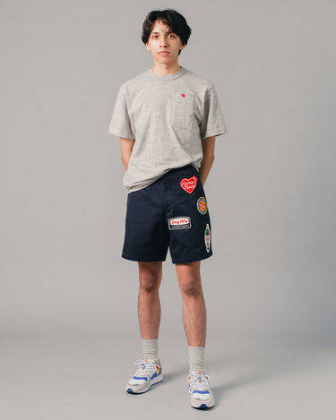 Military Wappen Chino Short Navy 2