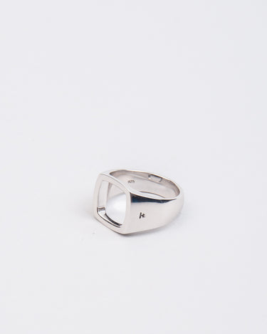 Cushion Open Ring Sterling Silver 1