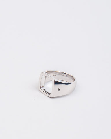Cushion Open Ring Sterling Silver