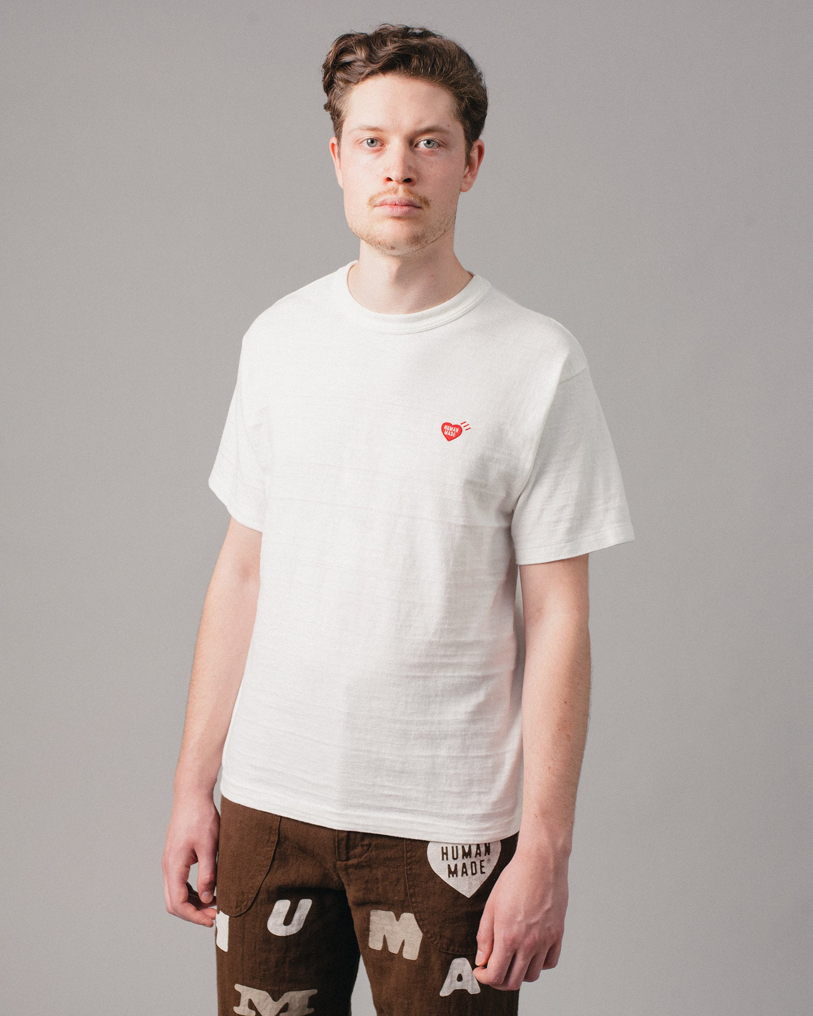 Heart One Point T-Shirt White
