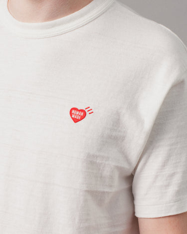 Heart One Point T-Shirt White 2