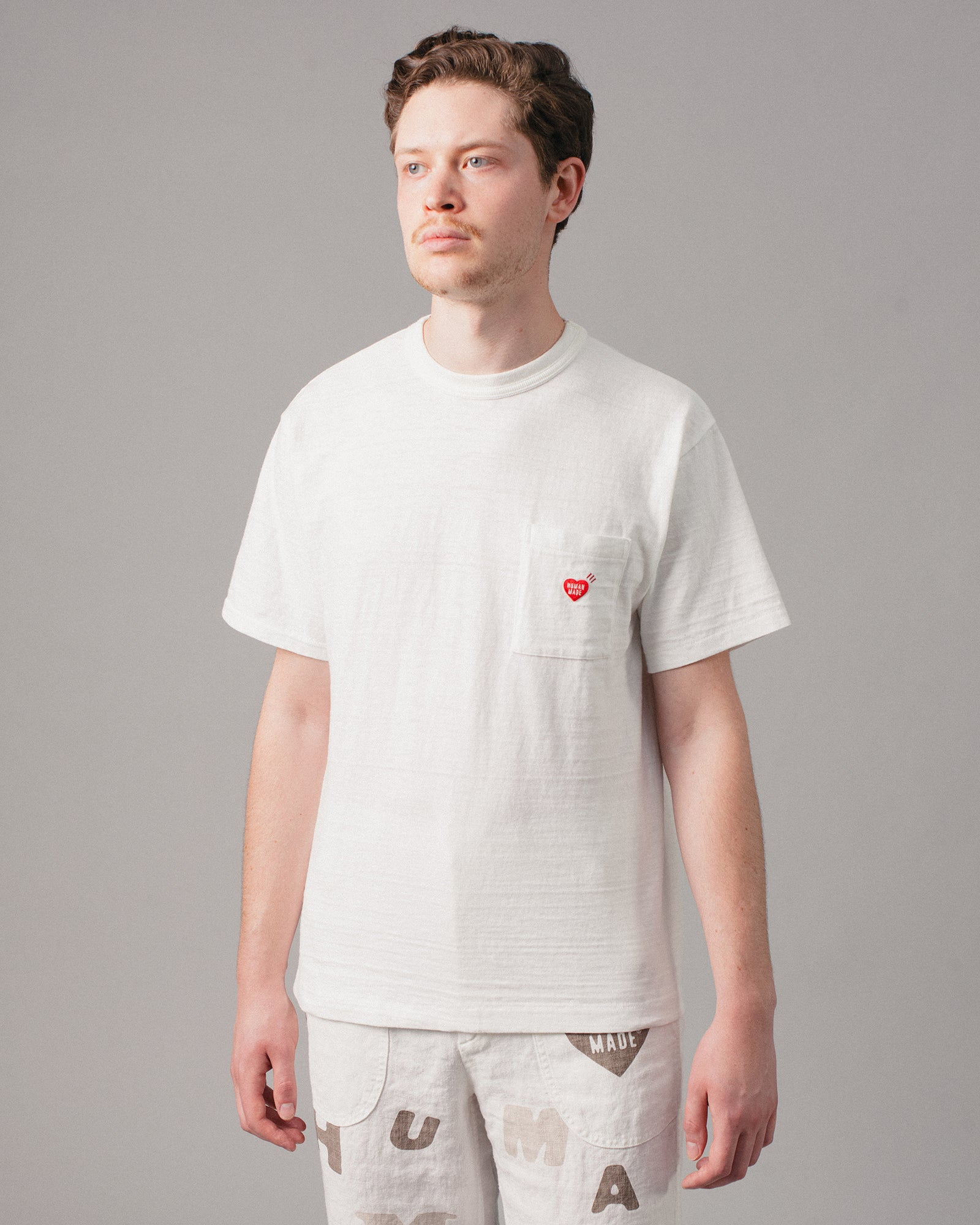 Polar Bear Pocket T-Shirt #1 White