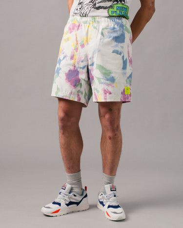 Reflective Logo Head PVC Beach Short Dry Pigment Dye 1