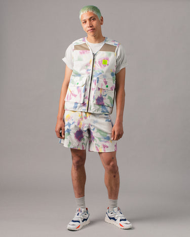 Reflective Logo Head PVC Beach Short Dry Pigment Dye 2