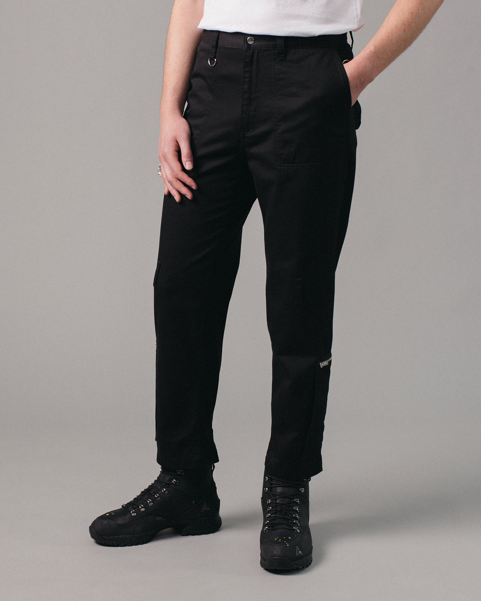 Zipper Detail Pant Black