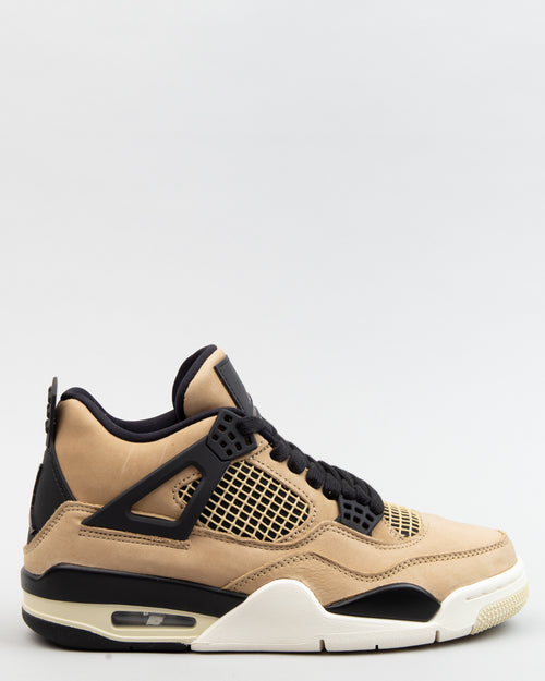 W Air Jordan 4 Retro Mushroom/Multi/Black 1
