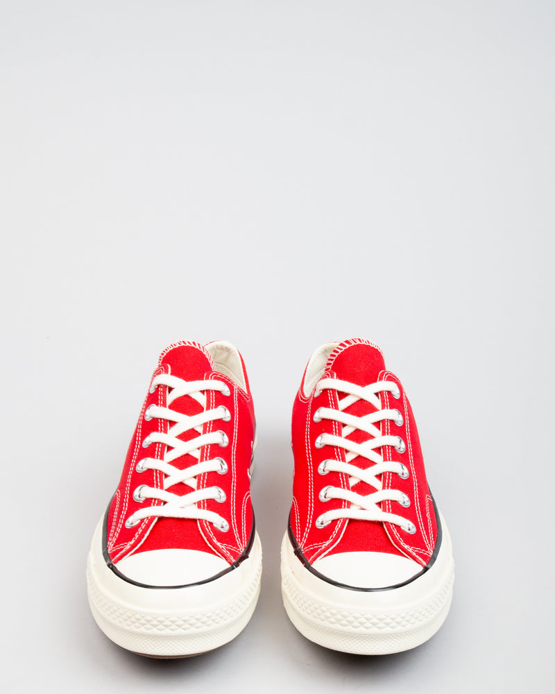 Chuck 70 OX Enamel Red/Egret/Black