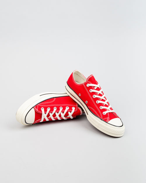 Chuck 70 OX Enamel Red/Egret/Black 2