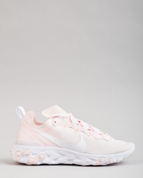 WMNS React Element 55 Pale Pink/White/Pale Pink 1