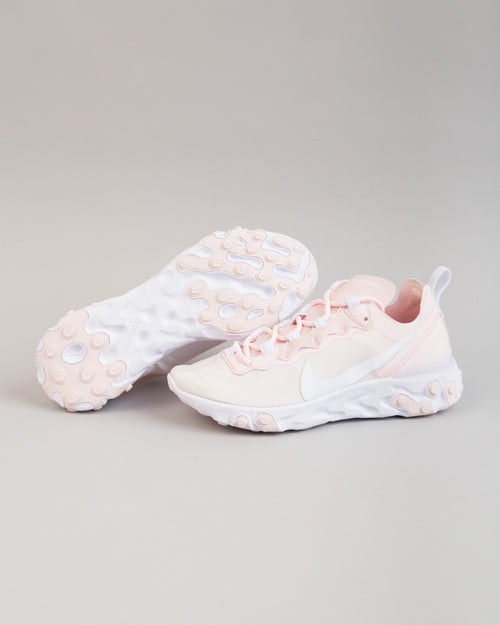WMNS React Element 55 Pale Pink/White/Pale Pink 2