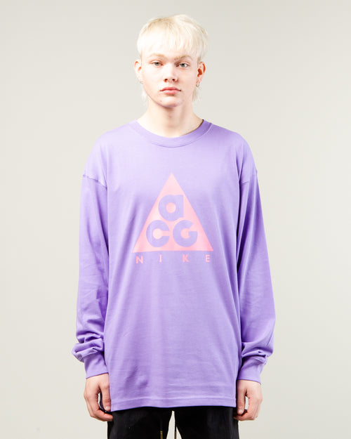 NRG ACG Logo LS Tee Space Purple/Lotus Pink 1