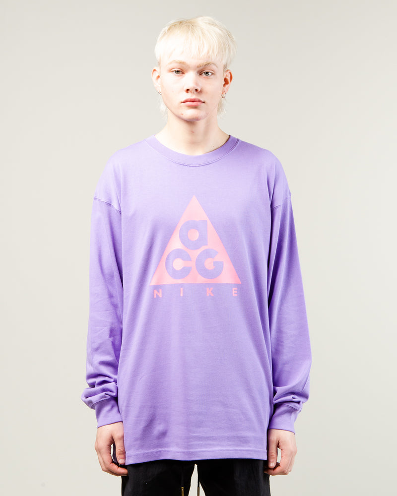 NRG ACG Logo LS Tee Space Purple/Lotus Pink