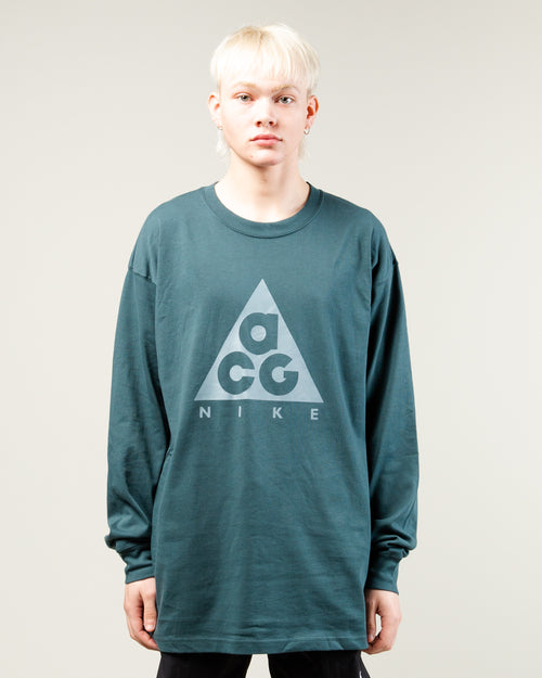 NRG ACG Logo LS Tee Deep Jungle/Aviator Grey 1