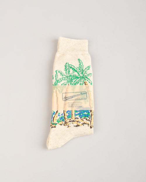Palm Tree Crew Sock 1
