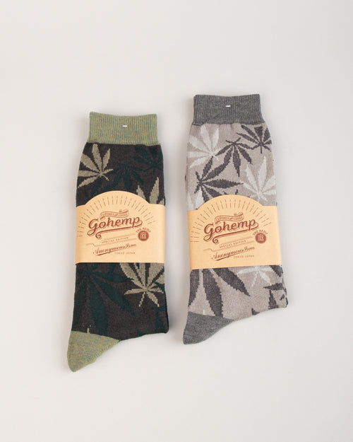 GO HEMP Pattern Crew Sock 1