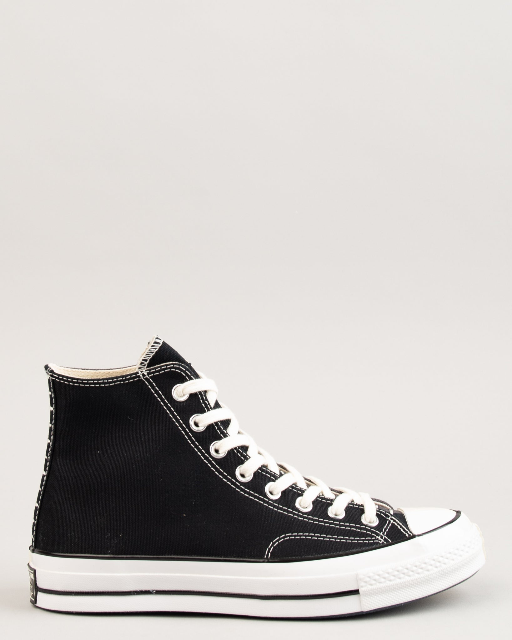 Restructured Chuck 70 HI Black/Almost Black/Egret