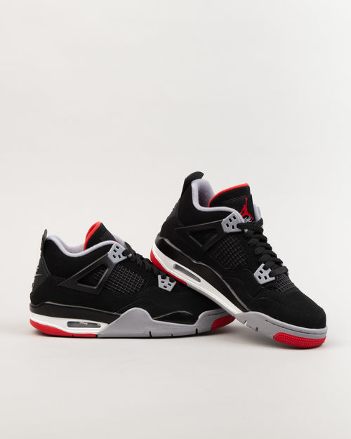 Air Jordan IV Retro (GS) Black/Fire Red/Cement Grey 2