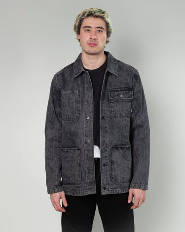 Jim Goldberg Chore Coat Acid Washed Black 1