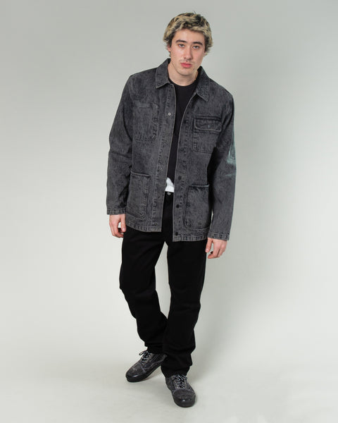 Jim Goldberg Chore Coat Acid Washed Black