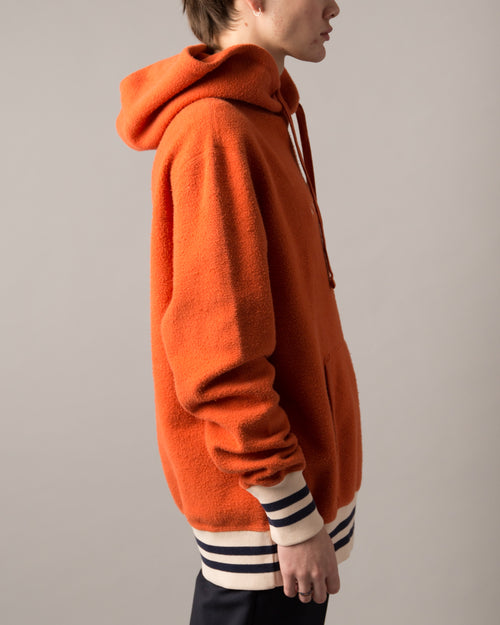 Reverse Fleece Hooded Sweatshirt Rust 2