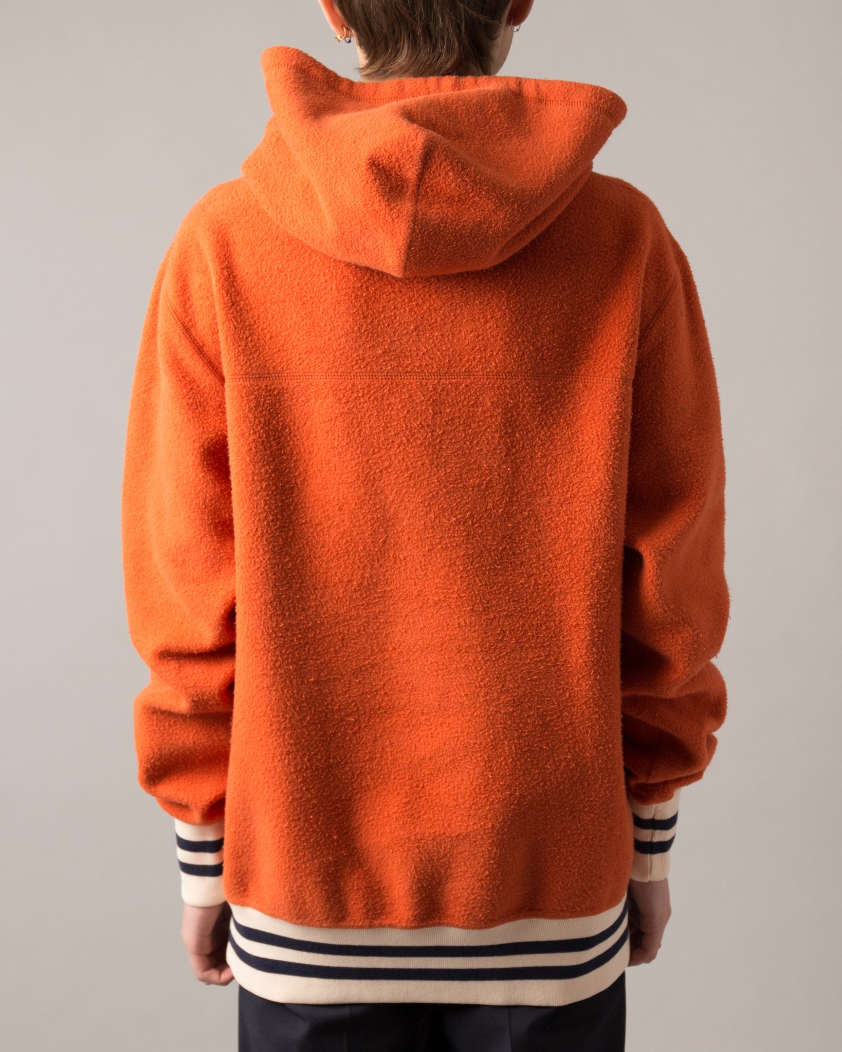 Reverse Fleece Hooded Sweatshirt Rust