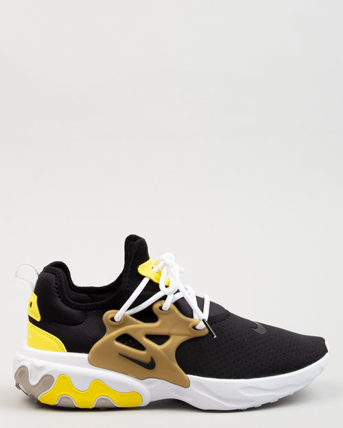 React Presto Black/Yellow Streak/Metallic Gold 1