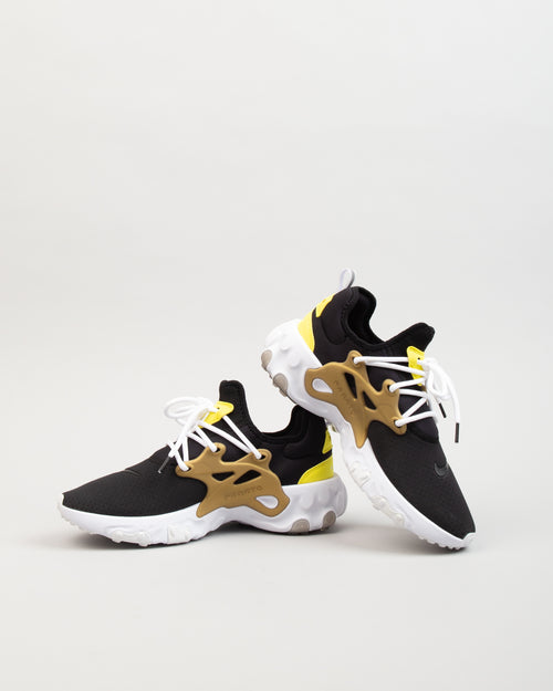 React Presto Black/Yellow Streak/Metallic Gold 2