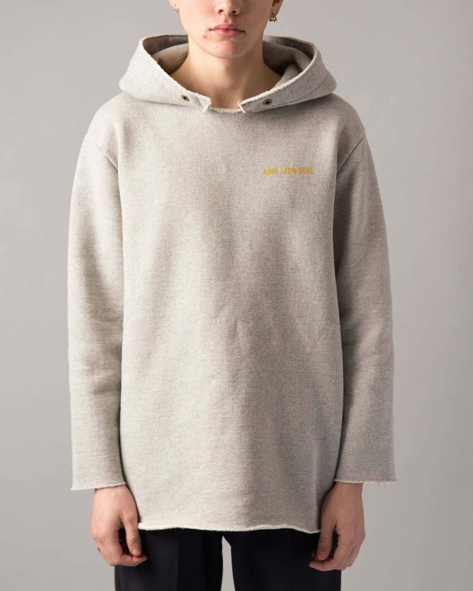 Deconstructed Gym Hoodie Grey Mix