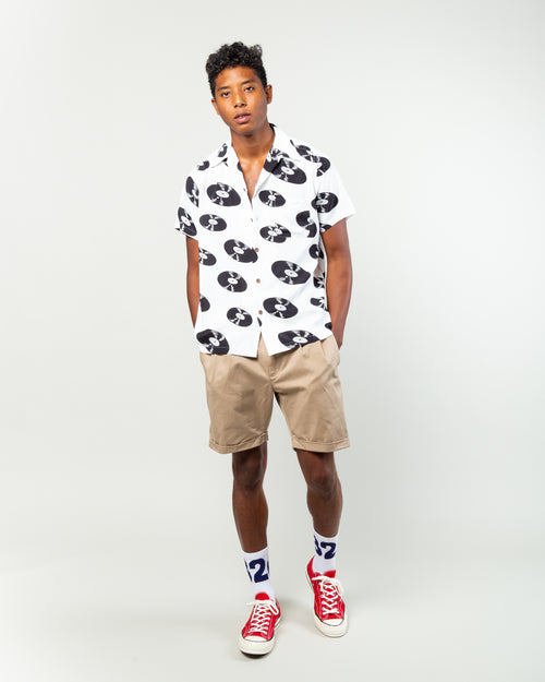 SS Hawaiian Shirt (Type-5) White 2