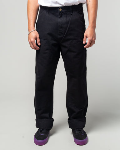 Double Knee Pant Black Rinsed