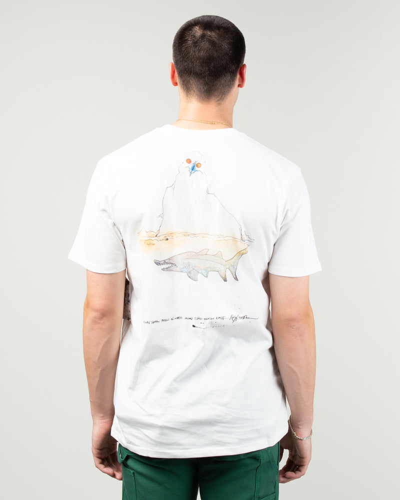 Ralph Steadman Shark Tee White