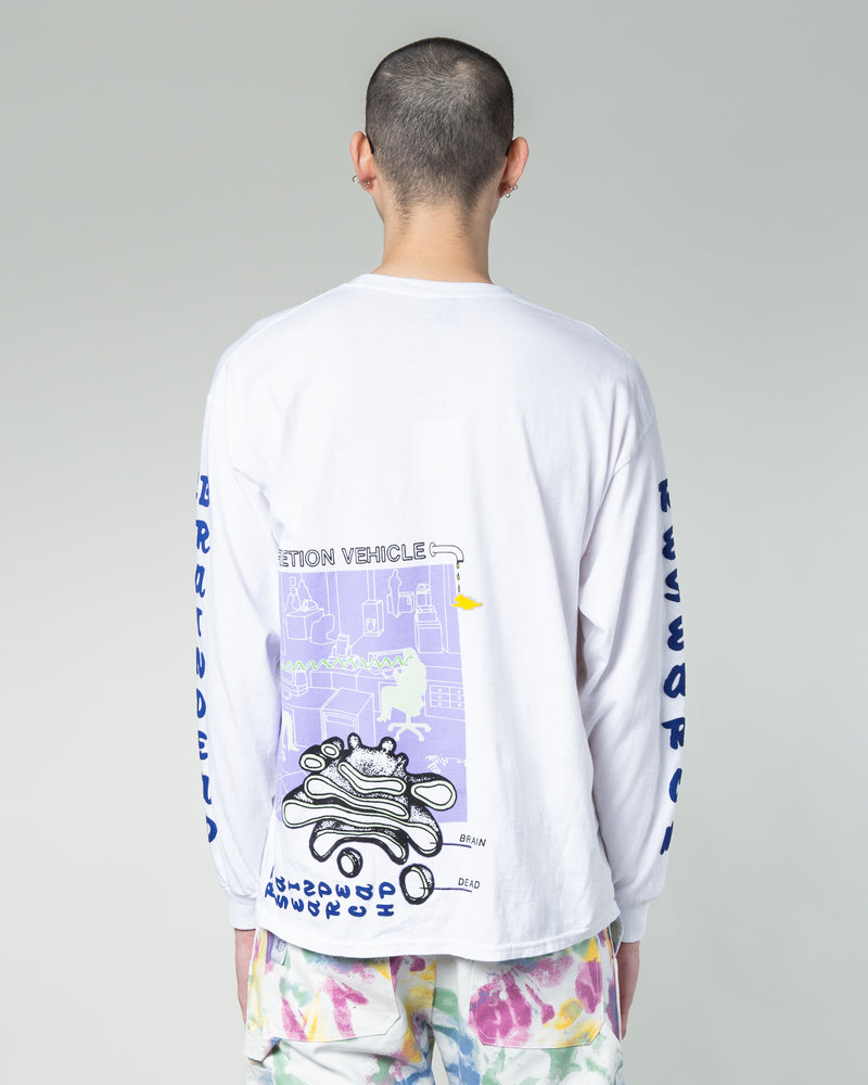 Vehicle Long Sleeve Tee White