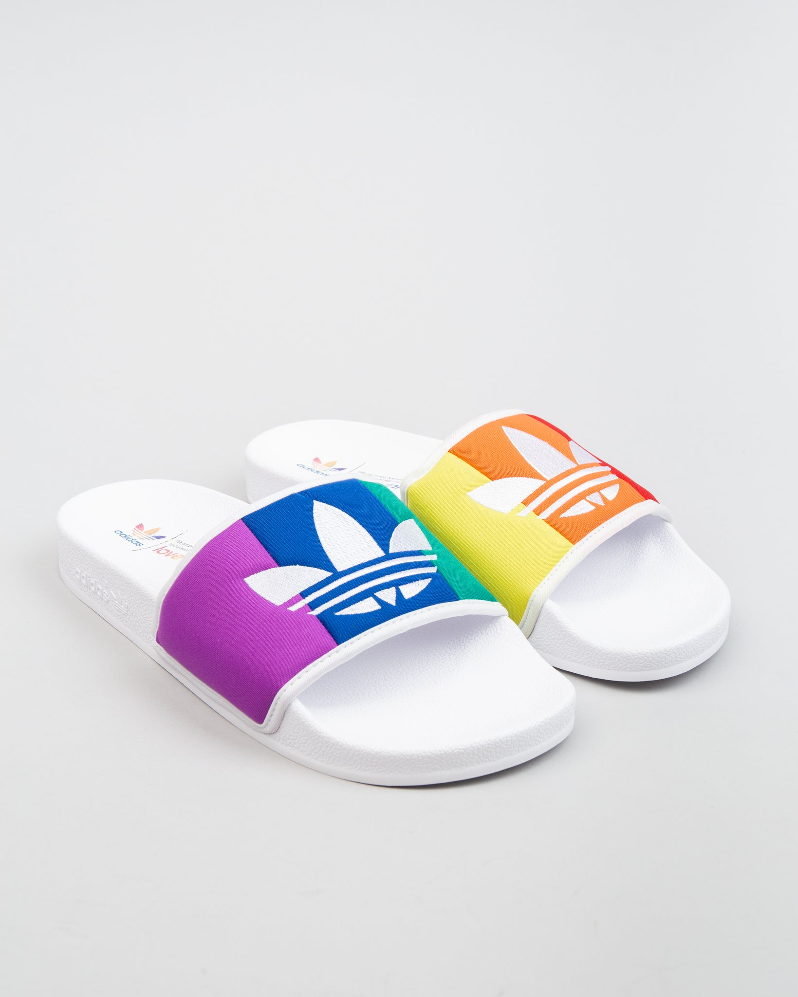 Adilette Pride Cloud White/Orange/Purple