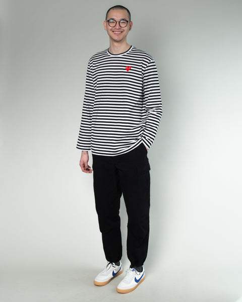 Striped T-Shirt Black/White/Red