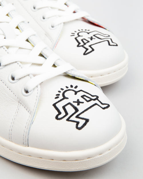 Keith Haring Stan Smith Crystal White/Orange/Chalk White 2
