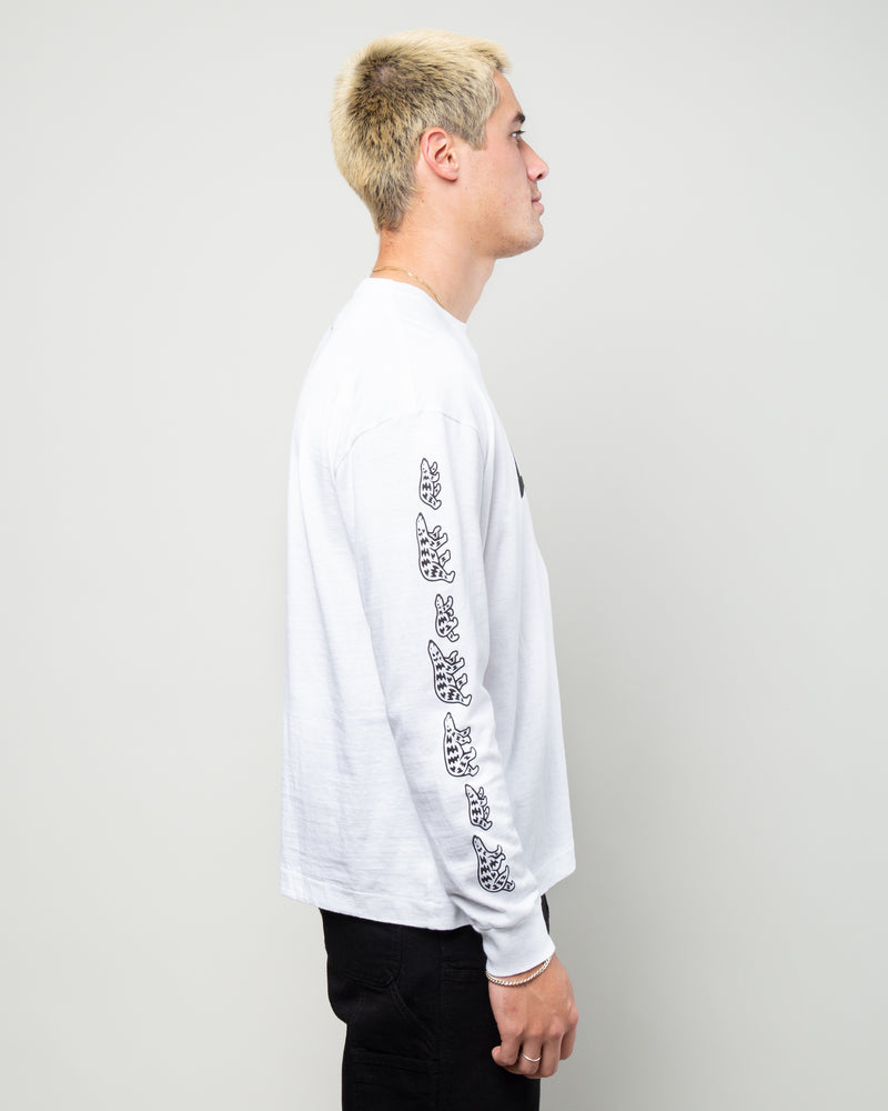 Mountain LS Tee White