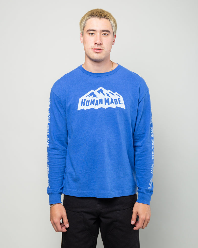 Mountain LS Tee Blue