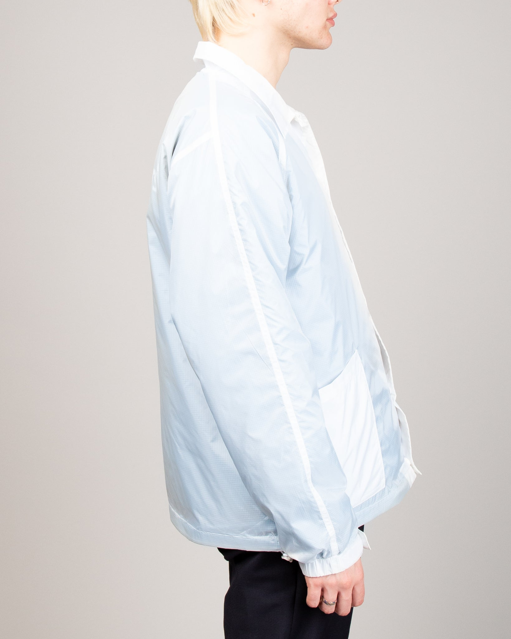 Transparent Coach Jacket Blue