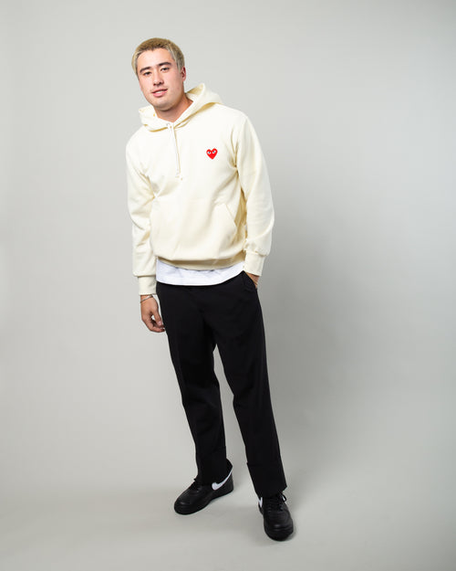 PLAY Red Heart Hoodie Ivory 2