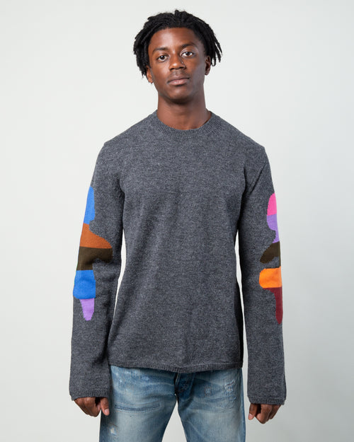 Color Block Sweater Grey 1