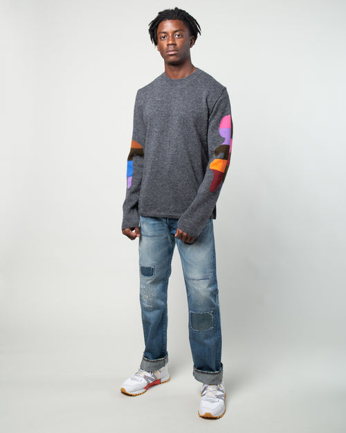 Color Block Sweater Grey 2